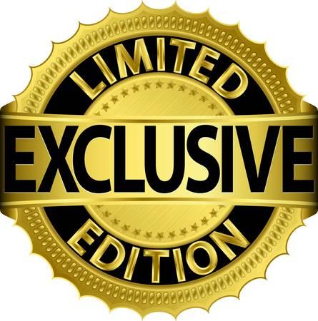 Edición limitada de oro etiqueta exclusiva