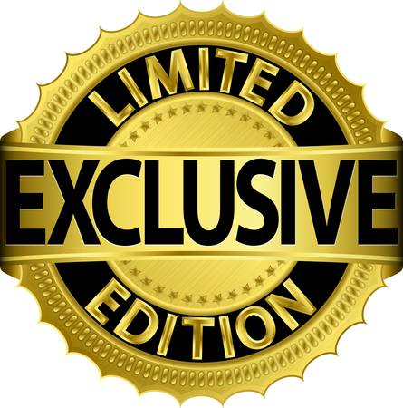 Limited edition exclusieve gouden label