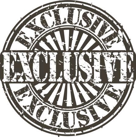 Grunge exclusive stamp, vector illustration Stock Vector - 15791175