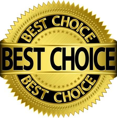 La scelta migliore dorato etichetta, illustrazione