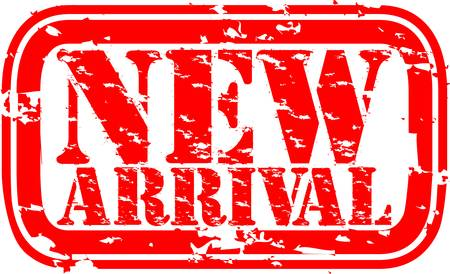 arrival: Grunge new arrival rubber stamp, illustration
