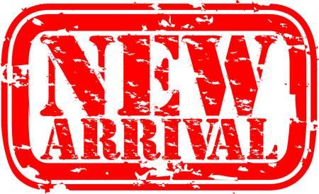 Grunge nieuwe aankomst rubber stempel, illustratie