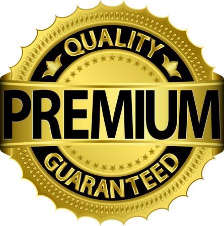 Premium kwaliteit gegarandeerd gouden label Vector Illustratie