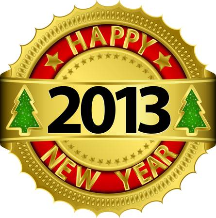 x mas party: Happy new 2013 anni, illustrazione vettoriale Vettoriali