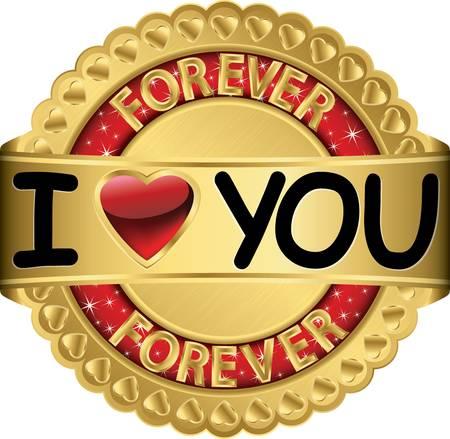 rich couple: Happy Valentine day golden label