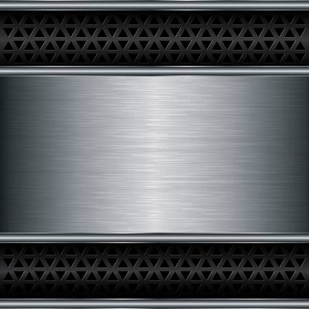 aluminum background: Abstract metallic background, vector illustration