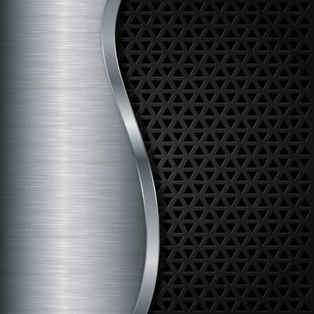 Abstract metallic background, vector illustration Stock Vector - 17020075