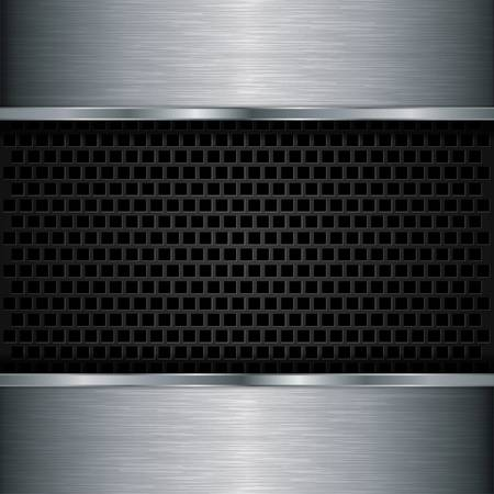 grille: Abstract metallic background, vector illustration