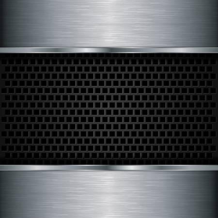 Abstract metallic background, vector illustration Stock Vector - 17112857