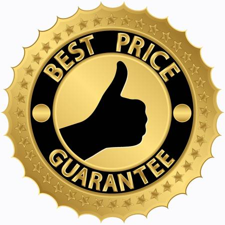 Best price guarantee golden label Stock Vector - 17112946