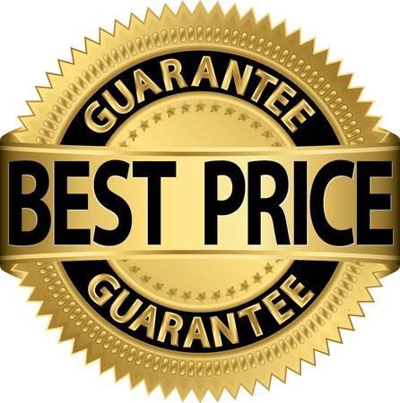 best: Best price guarantee golden label Illustration
