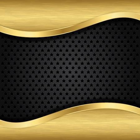 speaker grille pattern: Abstract golden background with metallic speaker grill, illustration