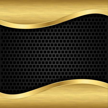 Abstract golden background with metallic speaker grill, illustration Stock Vector - 17323690