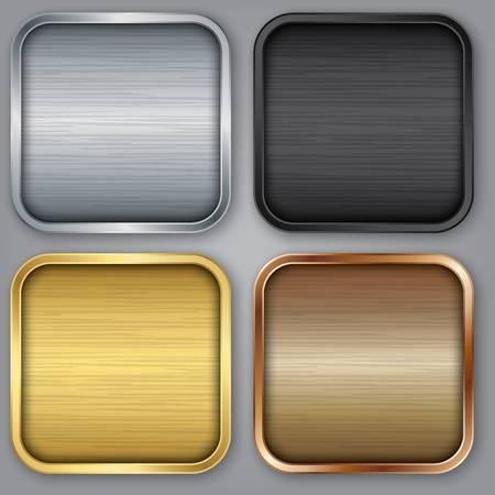 App icons set, ilustracji wektorowych Ilustracje wektorowe