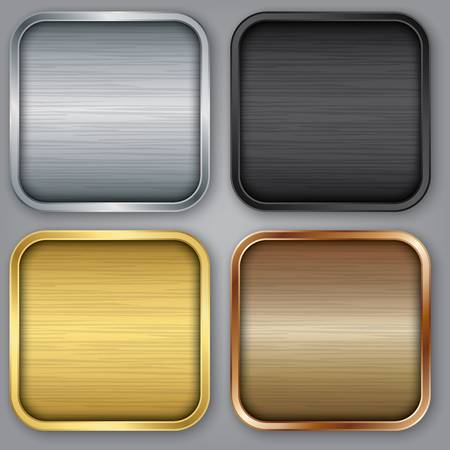 buttons: App set di icone, illustrazione vettoriale