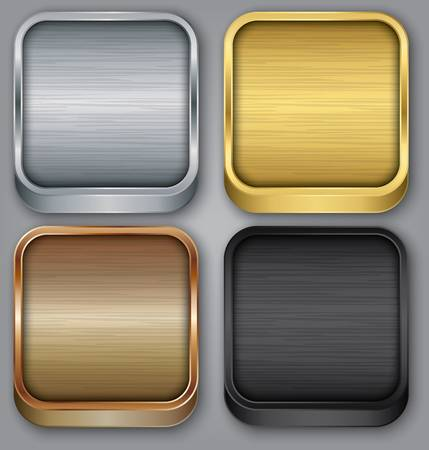 App icons set, vector illustration 向量圖像