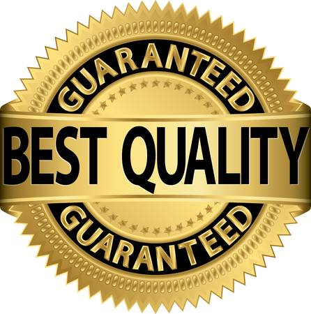 best quality: Best quality guaranteed golden label, vector illustration
