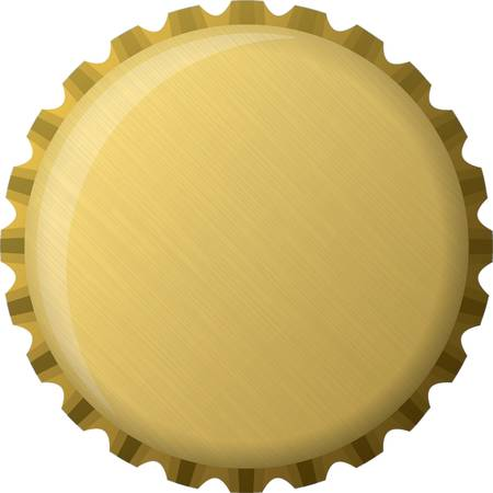 Golden bottle cap, illustration Vector