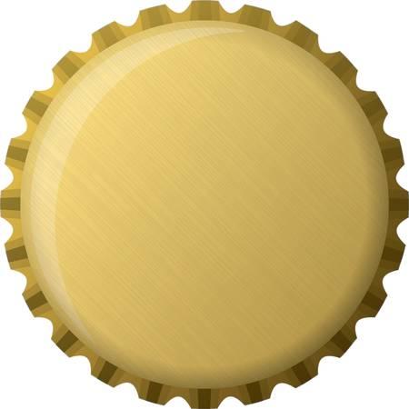 Tapa de la botella de oro, ilustración
