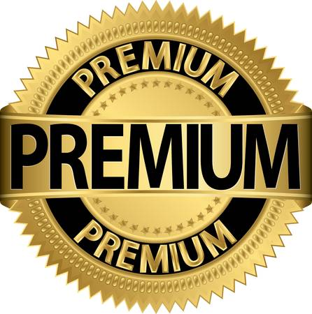 premium quality: Premium golden label, vector illustration