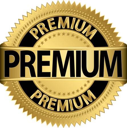 Premium gouden label, vector illustratie Vector Illustratie