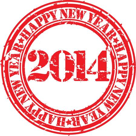 Grunge happy new 2014 year, vector illustration Stock Vector - 18411202