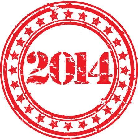 Grunge happy new 2014 year, vector illustration Stock Vector - 18411195