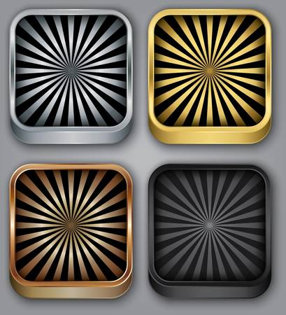 App icons set, illustration Vector