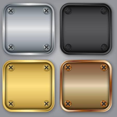 App icons set, illustration Stock Vector - 18512546
