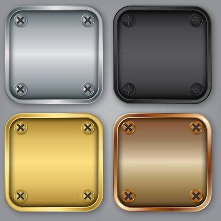 smartphone apps: App icons set, illustration