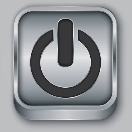 Power metallic app icon, illustration Stock Vector - 18512542