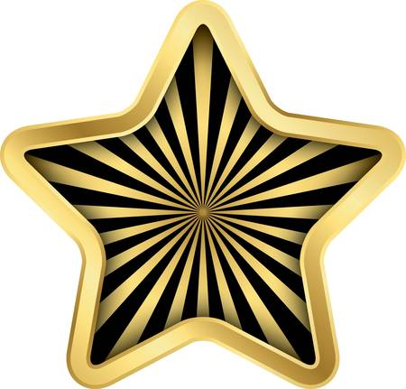 Rating golden star, vector illustration Vector