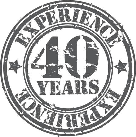 40: Grunge 40 years of experience rubber stamp, vector illustration Illustration