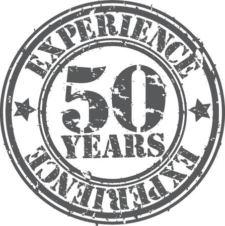 Grunge 50 years of experience rubber stamp, vector illustration Vector