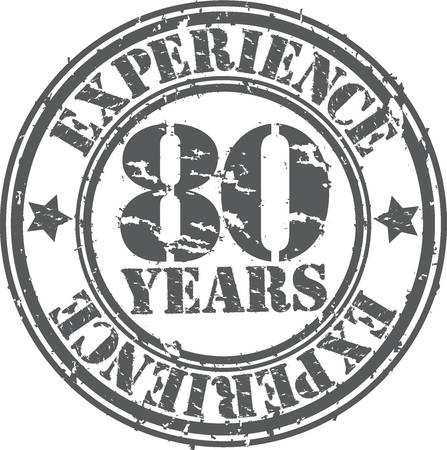 Grunge 80 years of experience rubber stamp, vector illustration Stock Vector - 18654219