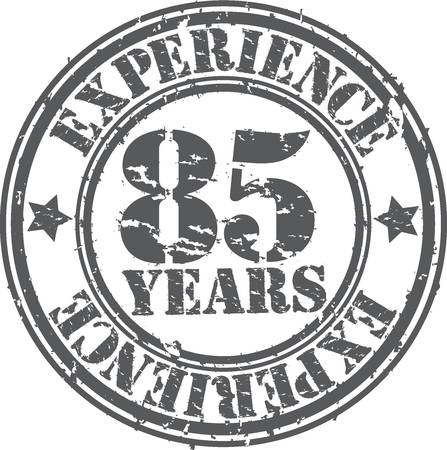 Grunge 85 years of experience rubber stamp, vector illustration Stock Vector - 18654221