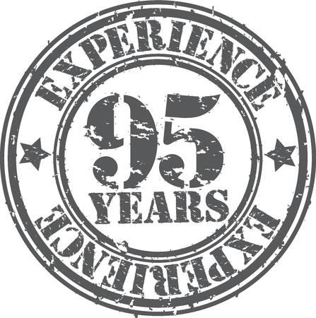 95: Grunge 95 anni di esperienza di timbro di gomma, illustrazione vettoriale