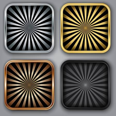 App icons set, illustration Stock Vector - 18735190