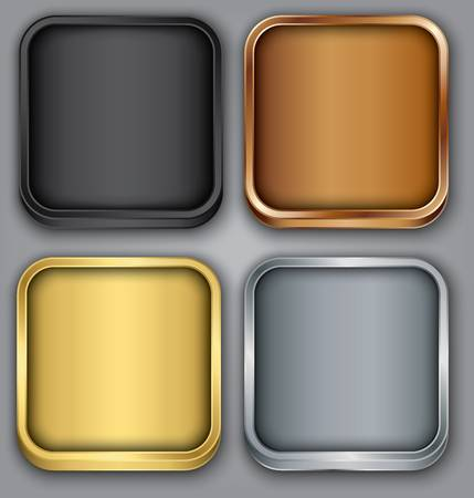 App icons set illustration Vector