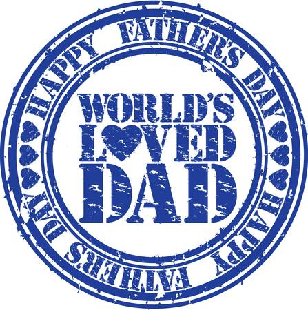 father  s day: Grunge Happy father s day rubber stamp illustration