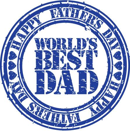no 1: Grunge Happy father s day rubber stamp illustration