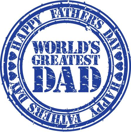 Grunge Happy father s day rubber stamp illustration