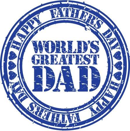 padres: Grunge padre feliz s caucho d�as ilustraci�n sello