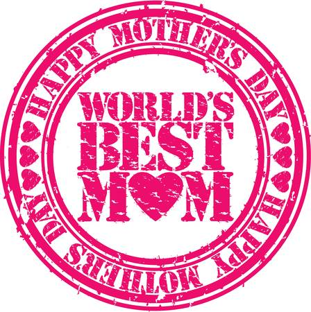 Grunge Happy mother s day rubber stamp illustration  Stock Vector - 18735199