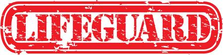 lifeguard: Grunge lifeguard rubber stamp illustration