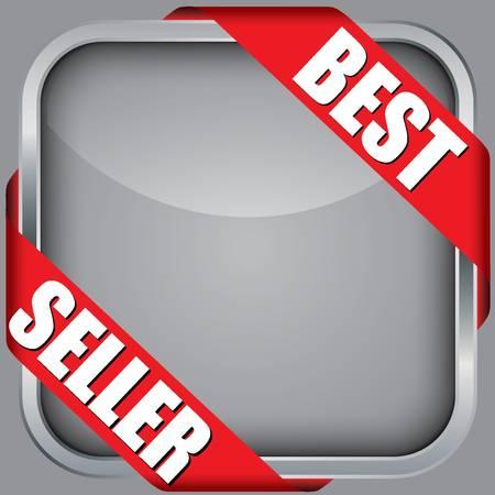 best seller: Blank App-Icon mit der besten Verk�ufer Band, Vektor-Illustration Illustration