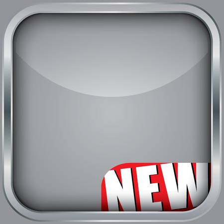 Blank app icon with new ribbon Vector