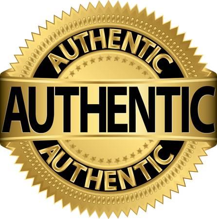 Authentieke gouden label, vector illustratie Vector Illustratie
