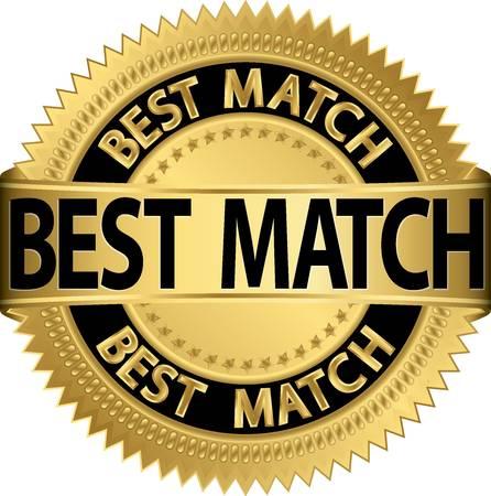 Best match golden label, vector illustration Stock Vector - 19526128