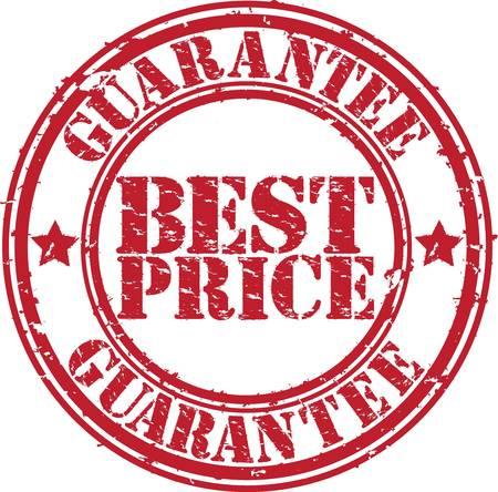 best price: Grunge best price guarantee rubber stamp, vector illustration Illustration